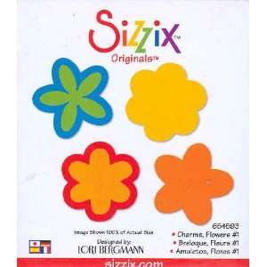 Sizzix Originals CHARMS FLOWERS #1 Die RED: Home & Kitchen