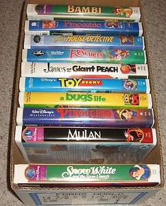 Tapes   Snow White Mulan Bambi Toy Story Pinocchio Bugs Life