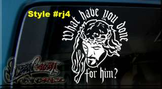 JESUS CHRIST GOD CROSS ANGEL VINYL Window Decal Sticker