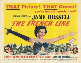 The French Line 11 x 14 Movie Poster, Jane Russell