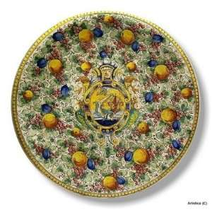 MAJOLICA DELFINO Extra large wall plate (28D.) [#0710 DLF