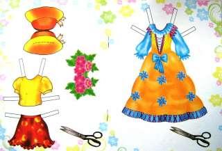 RUSSIA paper doll book BABY ANYA   wonderful dresses