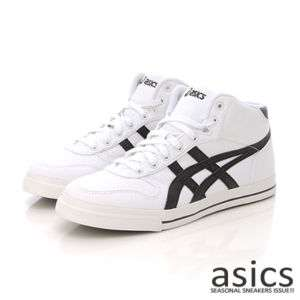Brand New ASICS AARON MT CV Shoes White/Black #99
