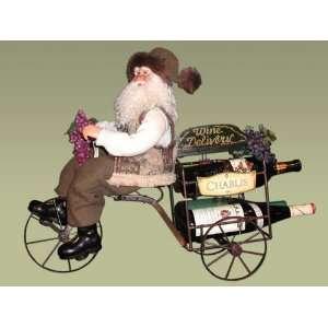 Karen Didion Originals 20 Wine Trike Heirloom Santa #CCWT G