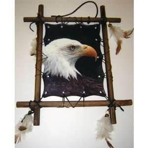 Framed Indian Picture EAGLE Native American Art 9 x 11