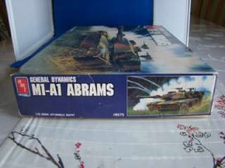 1989 AMT ERTL GENERAL DYNAMICS M1 A1 ABRAMS TANK MODEL KIT 1/35