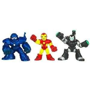 Hero Squad Armor Wars Action Figure 3Pack Iron Man, Iron Monger & War