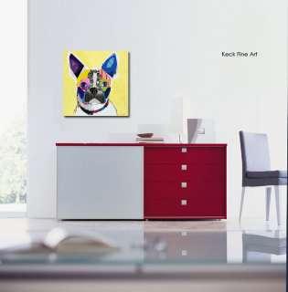 MICHEL KECK Boston Terrier Dog Pop Art Abstract Modern Dog Art