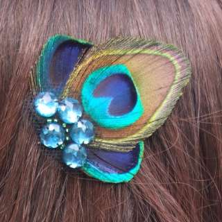 Feather Wedding Bridal Bridesmaids Fascinator Hair Clip Barrette