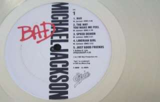 Michael Jackson BAD Platinum Plated LP Record & Mini Album Framed