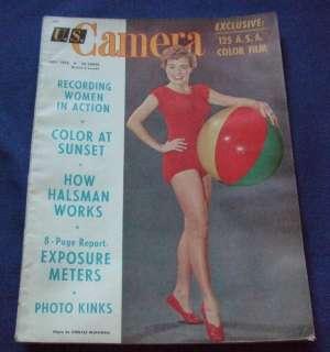 Camera Magazine July 1953 US Marilyn Monroe Elizabeth Taylor