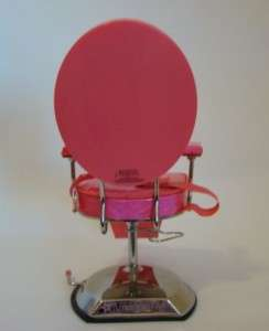 AMERICAN GIRL COMPLETE SALON SET INCLUDING PINK SALON CHAIR