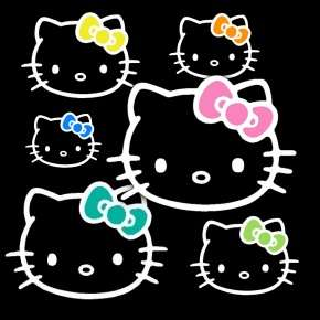 Hello Kitty 2 x 3 Chrome Auto Window Sticker Decal