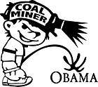 coal miner mining friends low places car decal sticker