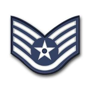 US Air Force Staff Sergeant Decal Sticker 3.8 6 Pack