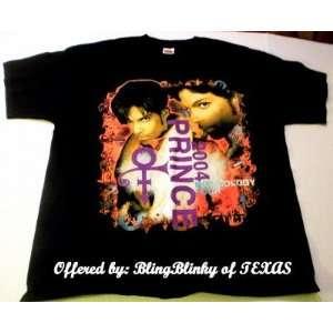 Musicology Tour Black Concert T Shirt Purple Rain Dove Cry Tee Rainbow