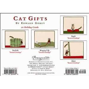 Edward Gorey Christmas Cards   Cat Gifts Assortment