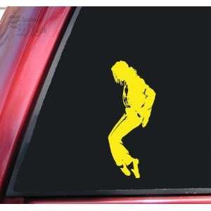 Michael Jackson Silhouette Vinyl Decal Sticker   Yellow