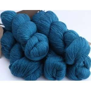 Silk/Merino Wool Aran Teal Blue Yarn Arts, Crafts & Sewing