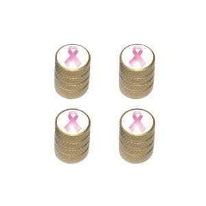 Breast Cancer Ribbon   Tire Rim Valve Stem Caps   Gold