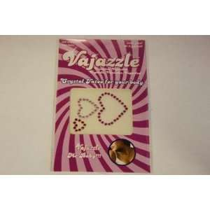 Bundle Vajazzle Multi Sized Colored Hearts and 2 pack of Pink Silicone