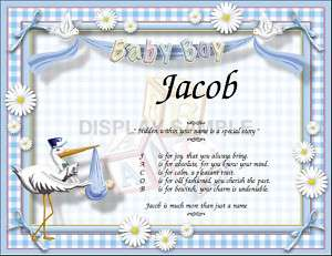 Personalized Baby Gift Poem Shower Baptism Christening