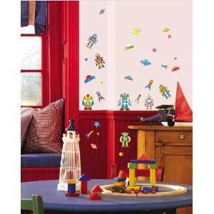 Robots Mural Wall Home ARt Deco Sticker PS 58065