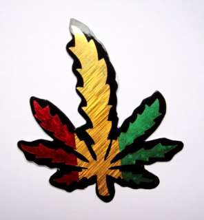 Cannabis Marijuana Rasta Scrapbook Bumper Bike Car ATV Foil Decal