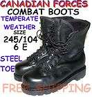 CANADA ARMY COMBAT BOOTS   6 E   245/104   TEMPERATE WE
