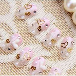 FASHION JAPANESE 3D NAIL ART (Pink Heart) 20 nails Sold By FATTYCAT
