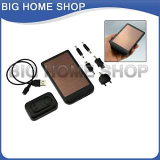 Solar Power Charger for Mobile Phone Camera  MP4 Black USA