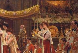 Print Queen Alexandra, Coronation King Edward VII Of UK