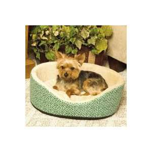 K&H Oval Green Paws Cuddle Dog Sleeper large 32 L x 24 W