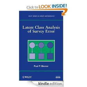 Latent Class Analysis of Survey Error (Wiley Series in Survey