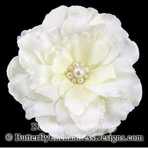 Pearl Ivory Audrina Flower Bridal Hair Clip Everything