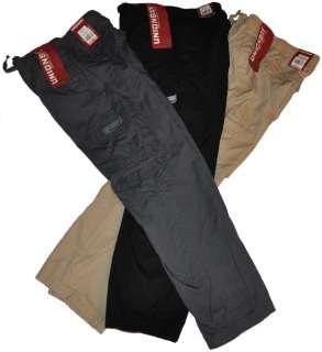 new Boys UNION BAY Cargo Pants NEW Drawstring Cotton Gray Black Khaki
