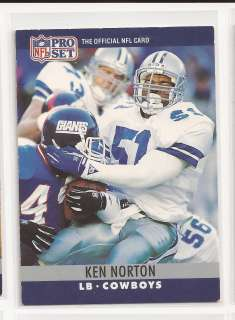 NORTON JR PRO SET CARD #84 DALLAS COWBOYS SF 49ERS UCLA BRUINS