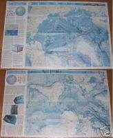 National Geographic MAPS ARCTIC ATLANTIC OCEAN Jan 1990