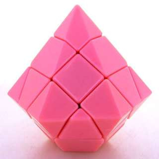 Rare Mini Pink Diamond Rubiks Magic Cube Twist Puzzle Toy