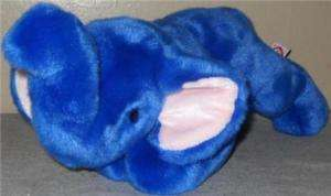 Plush Stuffed Ty Tylon Blue Elephant Peanut Toy 1998 17