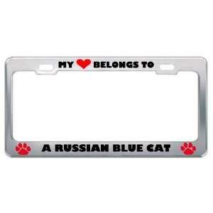 My Heart Belongs To A Russian Blue Cat Animals Pets Metal