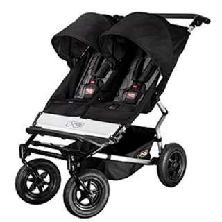 Mountain Buggy Duet Slim Twin Buggy Baby Stroller   Black/Flint