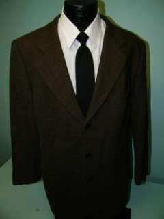 Jacket BLACK BROWN GOLD Sport Coat WOOL TWILL Blazer 42 L Long