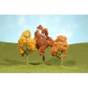 Bachmann Trains 3  4 Autumn Maple Trees   3 Per Box