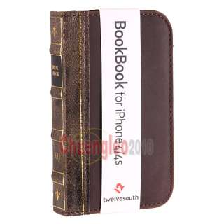 Twelve South BookBook Real Leather Wallet Case for iPhone 4 4S