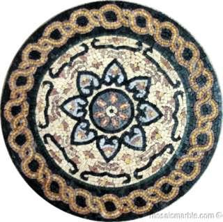 Lovely Marble Mosaic Medallion Decor Art Tile