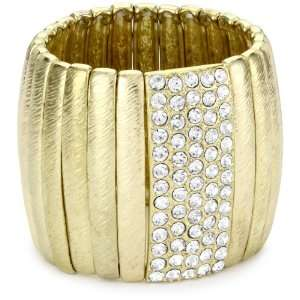 Leslie Danzis Gold Tone Stretch Bracelet Jewelry