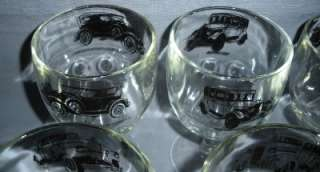 STEMMED GLASSES CRYSTAL BLACK ANTIQUE AUTOS CARS DECORATION BARWARE