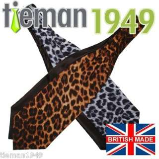 Men & Womens LEOPARD PRINT Self Tie Ascot Cravat SCARF