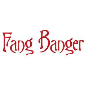 Fang Banger   True Blood   Funny Decal / Sticker  Sports
